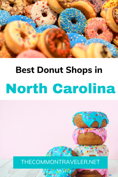Looking for the 10 best donut shops in NC? Click here for all the locations! #visitnc #ncdonuts #ncdoughnuts #charlottedonuts #durhamdonuts #raleighdonuts #risenc #ducknc