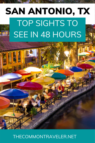 10 Things to Do and See in San Antonio for the weekend, a travel guide featured by US travel blog, The Common Traveler. Includes things to do with your Airman at BMT Graduation. #sanantonio #sanantoniotexas #texas #ustravel #us #travel #unesco #afbmtgraduation #bmtgraduation