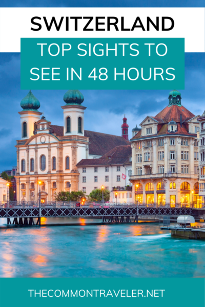 Have 48 hours in Switzerland? Here are some great ideas on how to spend two days in this beautiful country famous for its hospitality. Whether you're looking to spend some time in the Alps or in the cities, no matter what time of year you visit, you'll find the perfect destination for you. #switzerland #alps #geneva #zurich #interlaken #bern #grindelwald #zermatt