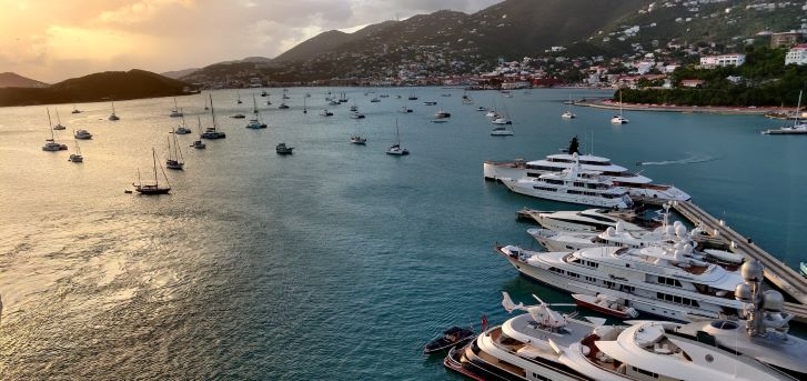 yachts and sailboats in St. Thomas