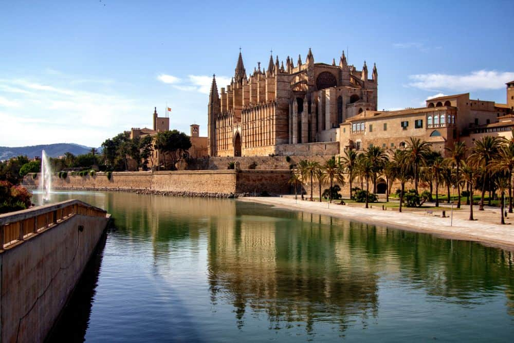 brown building - Palma Cathedral in Mallorca