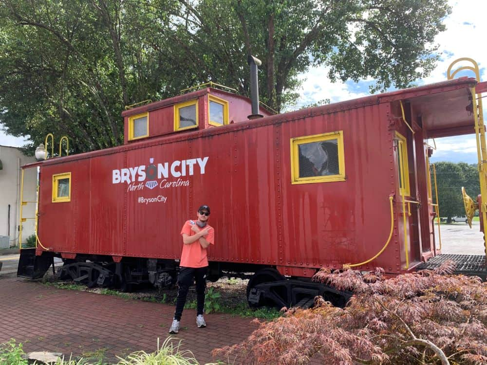 Bryson City red caboose