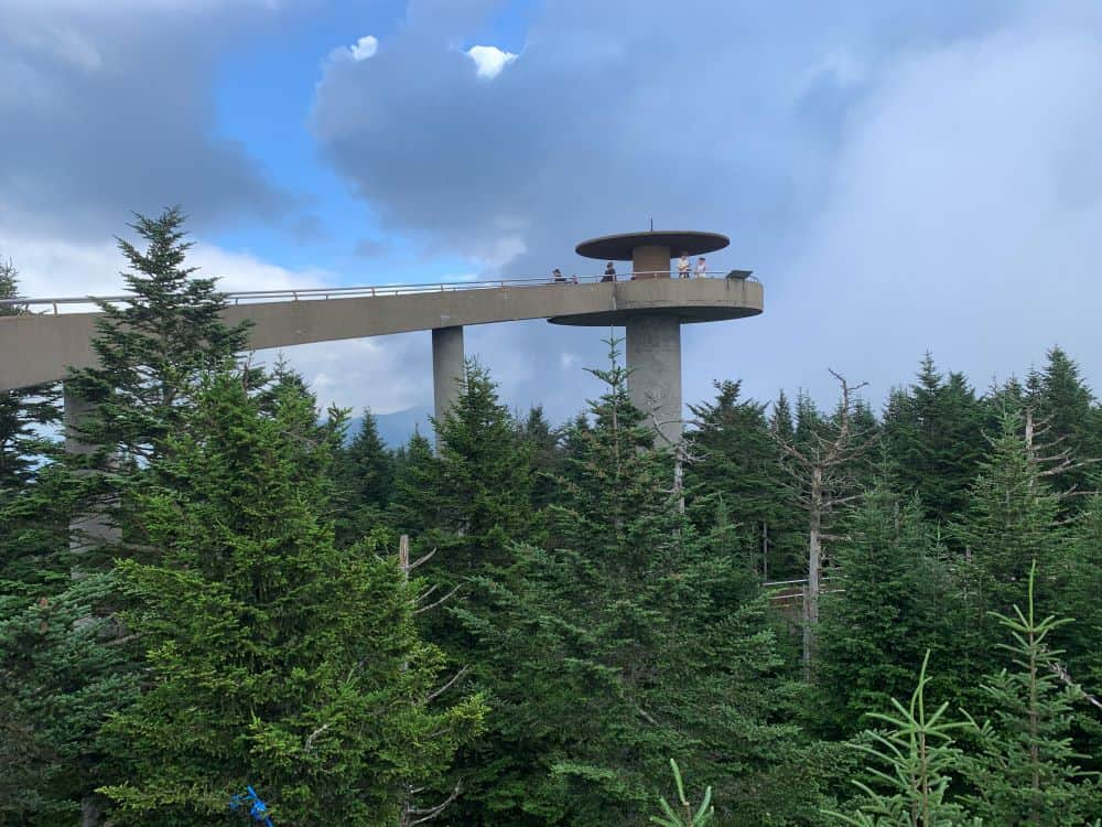 Clingmans Dome concrete tower in Bryson City, NC