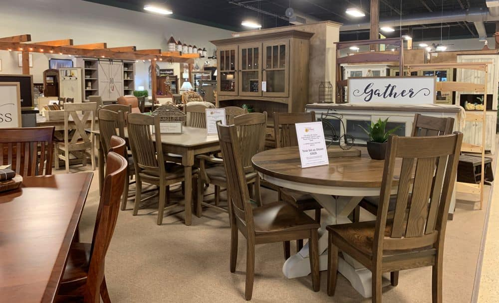 Amish furniture display