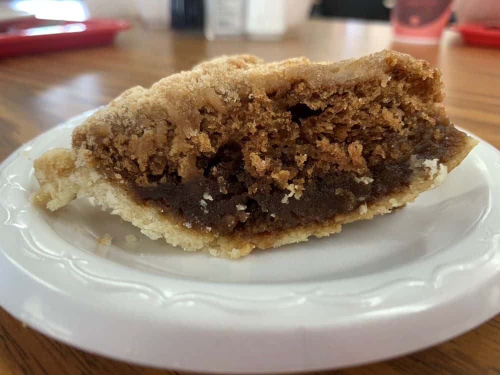 slice of shoofly pie from a PA Dutch country gift and Amish souvenir