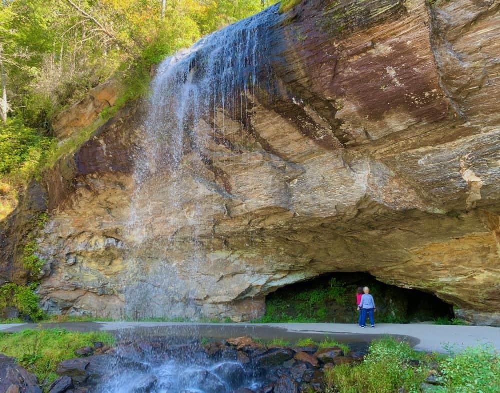 Bridal Veil Falls in Highlands NC