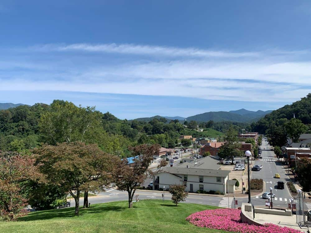 Downtown view of Sylva NC