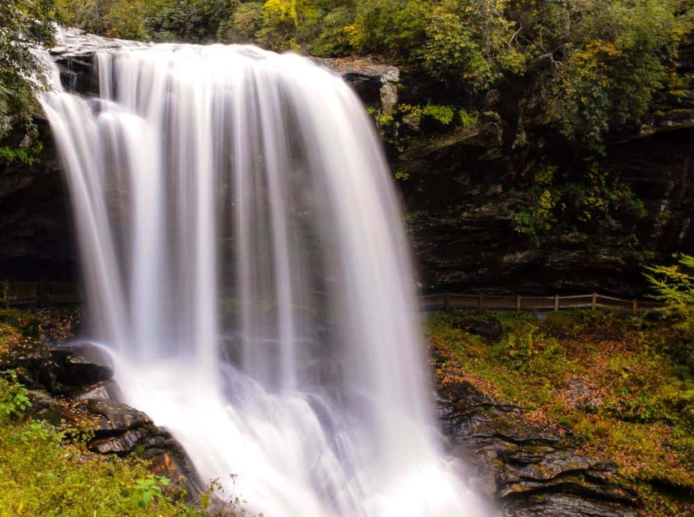 Dry Veil Falls in Highlands, NC