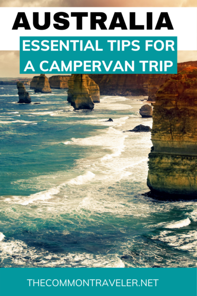 5 Top Tips for a road trip in a campervan in Australia featured by top travel blogger, The Common Traveler - Renting a campervan (RV for us North Americans!) is a great way to experience everything that Australia has to offer. These tips will ensure an enjoyable experience on your travels. #australia #campervan #campervantips #RVtips