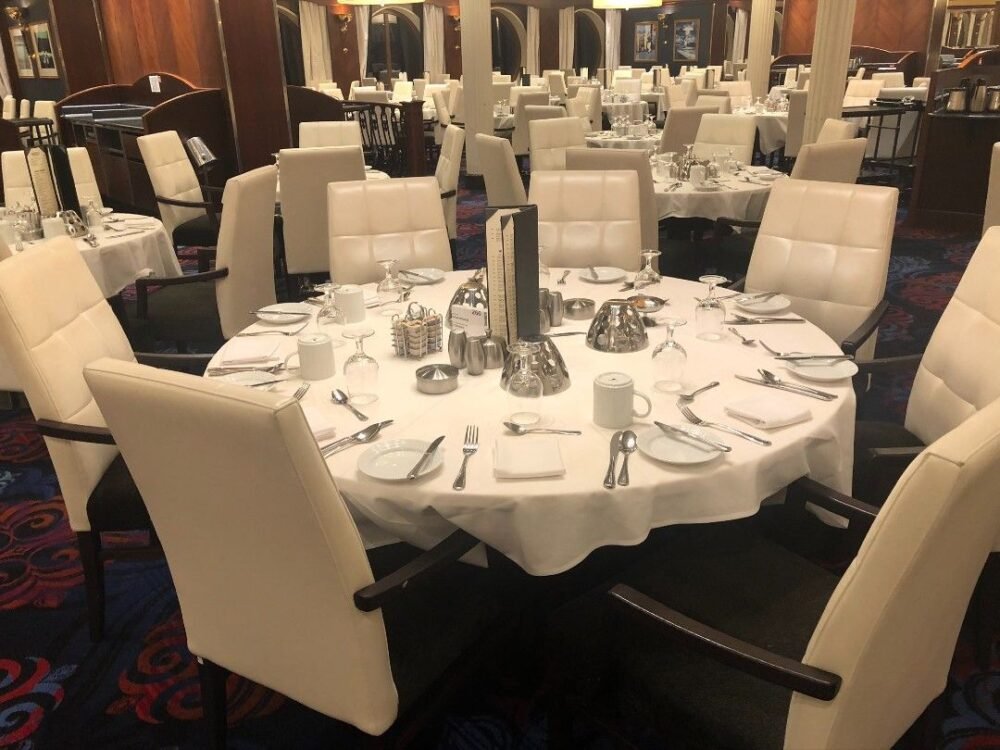 Tips for Solo Cruisers by travel blogger The Common Traveler - Image: main dining room on cruise ship