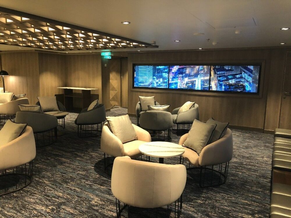 Tips for Solo Cruising by travel blogger The Common Traveler - Image: Studio Lounge on Norwegian Encore for solo travelers