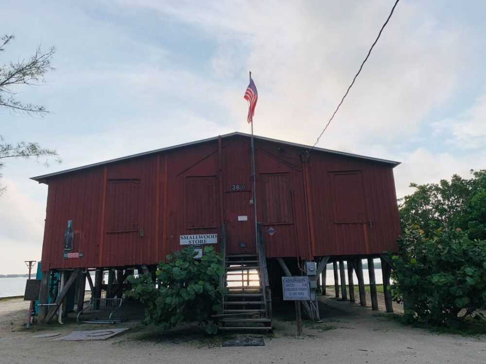 Everglades Vacation Guide featured by top US travel blogger, The Common Traveler: . Image of red building - Smallwood Store in Chokoloskee, Florida
