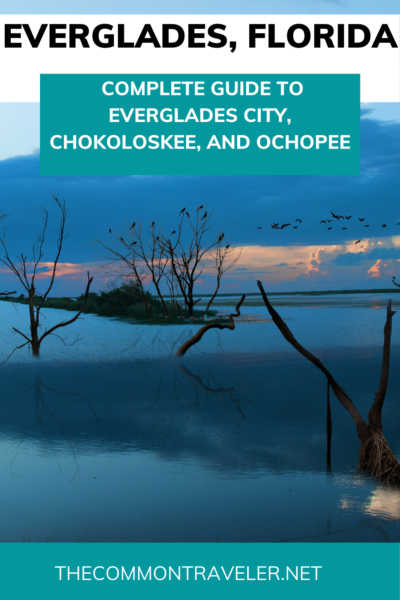 Everglades Vacation Guide featured by top US travel blogger, The Common Traveler. Everything you need to know to plan a day trip (or longer!) to Everglades City, Chokoloskee, and Ochopee: where to go, what to see, where to eat, as well as odd attractions in the area. #swfl #everglades #florida #evergladescity #ochopee #chokoloskee #naples #marcoisland #southwestflorida #10000islands