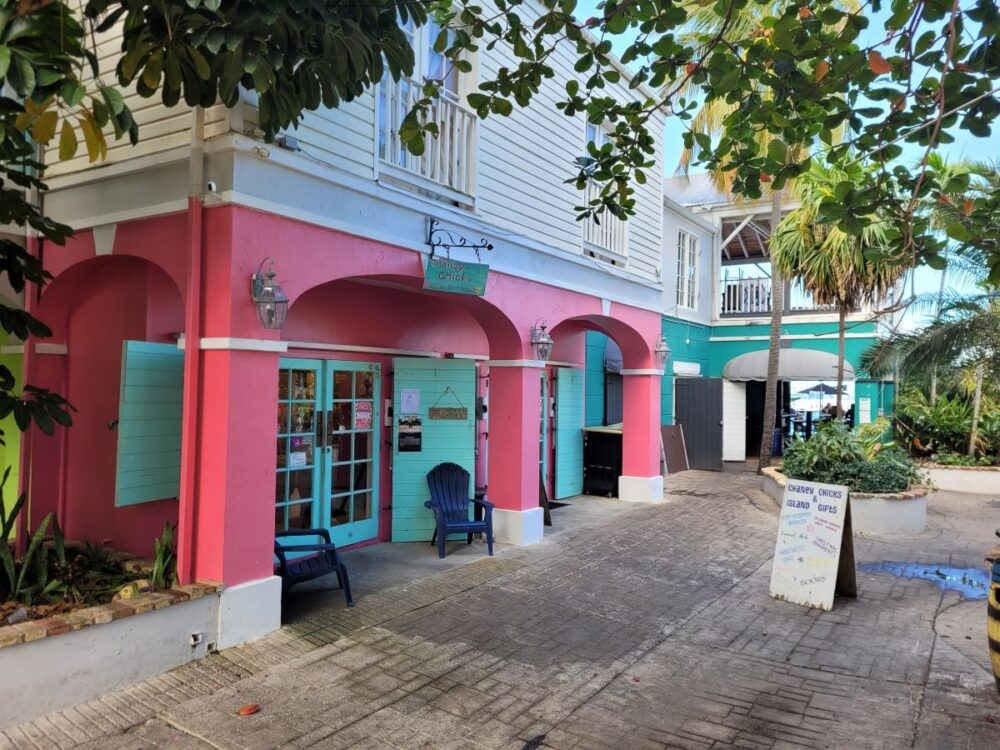 Image: colorful buildings on street in Christiansted, St. Croix, USVI. |Best Things to do in the US Virgin Islands: image of Christiansted in St. Croix.