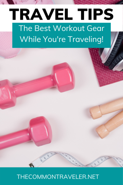 Travel Workout Equipment by popular US international travel blog, Click here to find out the best fitness equipment to take while keeping up your routine during travel! #travelfitness #travelworkout #yogamats #fitnesstracker #fitnessbands