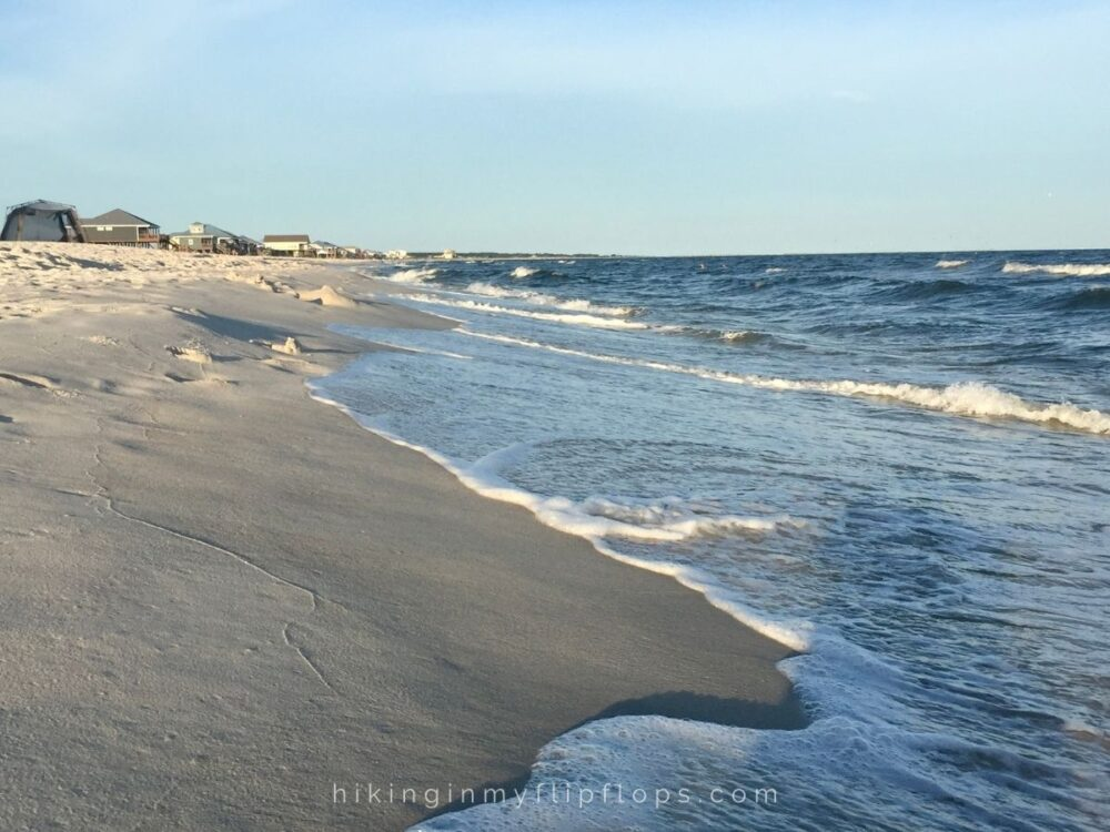 Best Day Trips from New Orleans | The Common Traveler | image: waves on shore at Dauphin Island, AL |New Orleans Day Trips by popular US travel blog, The Common Traveler: image of Dauphin Island, AL.