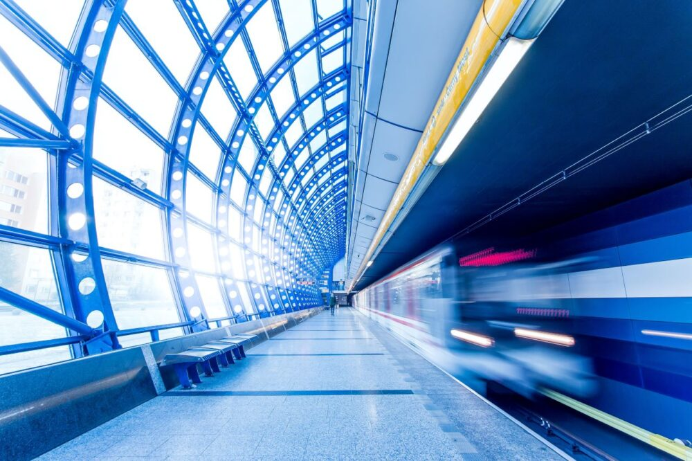 Tips for Staying Safe While Traveling | The Common Traveler | image of metro train going by inside station |Traveling Alone by popular US travel blog, The Common Traveler: image of a metro train.