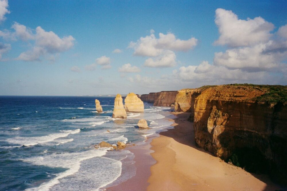 Six Amazing Motorcycle Rides Around the World | The Common Traveler | image: Australia's Great Ocean Road rocks at coast |Motorcycle Rides by popular US international travel blog, The Common Traveler: image of the Great Ocean Road rocks.
